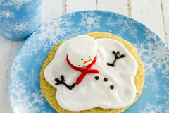 Melting Snowmen Decorated Sugar Cookies Royalty Free Stock Image