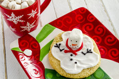 Melting Snowmen Decorated Sugar Cookies Stock Images