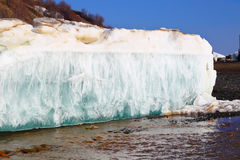 Melting spring ice, Taimyr, Russia Stock Photography