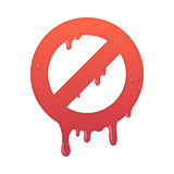 Melting stop icon. Stock Photography