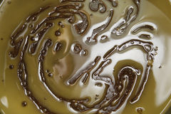 Melting sugar. Muscovado sugar, butter and honey melting in a pan Royalty Free Stock Photography