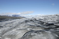 Melting surface of Vatnajokull glacier, Iceland Royalty Free Stock Images