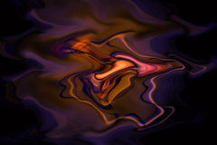Melting swirls of colour Stock Photography