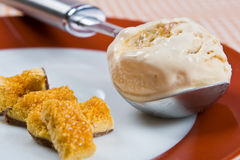 Melting toffee ice cream Royalty Free Stock Photo