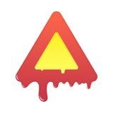 Melting warning icon. Blank beware symbol illustration Stock Image