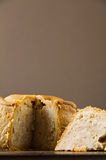 Melton Mowbray pork pie low shot cut Royalty Free Stock Images