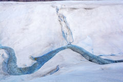 Meltwater Stream on the Surface of a Glacier Royalty Free Stock Images