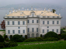 Melzi's Mansion. The Mansion of Melzis is a important house in Bellagio in the lake of Como Stock Image