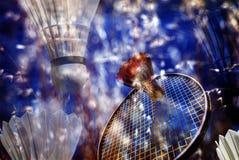 Memória da ação do Badminton Imagens de Stock