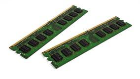 Memória de acesso aleatório DDR2 fotografia de stock royalty free