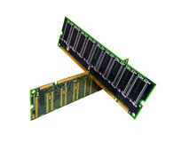 Memória de computador isolada, RAM, RDA, módulos de SDRAM Imagem de Stock