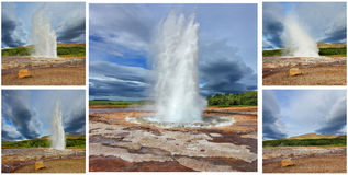 Memória do cartão - geyser Strokkur Fotos de Stock Royalty Free