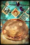 Memórias das férias de verão no estilo do vintage Fotografia de Stock