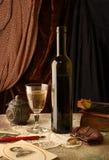 Memórias e vinho Imagem de Stock Royalty Free