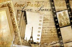 Memórias sobre Paris ilustração royalty free