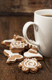 Memade cookies with a cup of coffee Royalty Free Stock Photos