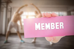 Member against people background Royalty Free Stock Images