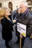 Member of Amnesty International,Rome,Italy Royalty Free Stock Photo