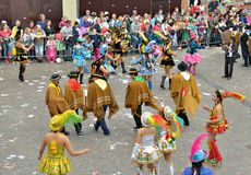 Member of Bolivian team on carnival in Halle Royalty Free Stock Photography