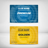 Member card templates Royalty Free Stock Image