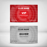 Member card templates Stock Images