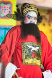 A member of Chinese Opera group perform on stage Stock Photos