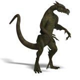 Member of the fantasy dragon folk Royalty Free Stock Image