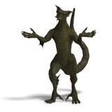 Member of the fantasy dragon folk Stock Image