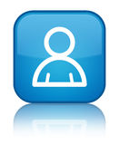 Member icon special cyan blue square button Royalty Free Stock Images