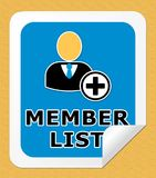 Member List Means Subscription Listing 3d Illustration. Member List Icon Means Subscription Listing 3d Illustration Stock Photos