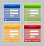 Member log in website elements Stock Photography