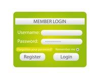 Member login Stock Photo