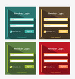 Member login Royalty Free Stock Photos
