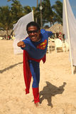 Member of  Majestic Elegance Punta Cana entertainment team on the beach Stock Photo