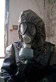 Member of nuclear protection crew royalty free stock image