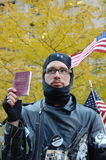 A Member of Occupy Wall Street Royalty Free Stock Photos