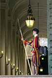 A member of the Pontifical Swiss Guard, Vatican royalty free stock image