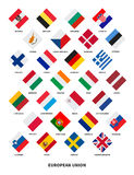 Member state of the European Union flags Rhombus Stock Image
