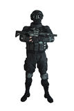 Member of the SWAT team royalty free stock image