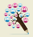 Member user concept pencil tree Royalty Free Stock Images