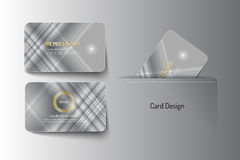 Member VIP and business card template design. Vector illustr Royalty Free Stock Images