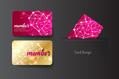 Member VIP and business card template design. Vector illustr Stock Image