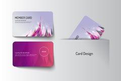 Member VIP and business card template design. Vector illustr Stock Photo