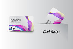 Member VIP and business card template design. Vector illustr Royalty Free Stock Photography
