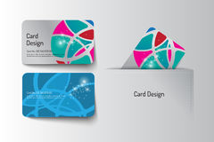 Member VIP and business card template design. Vector illustr Royalty Free Stock Photo