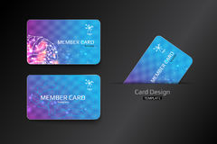 Member VIP and business card template design. Vector illustration Stock Photography