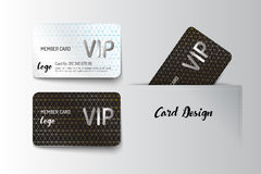 Member VIP and business card template design. Vector illustrator Stock Photography