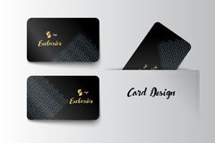 Member VIP and business card template design. Vector illustrator Royalty Free Stock Photo