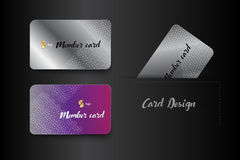Member VIP and business card template design. Vector illustrator Stock Photos