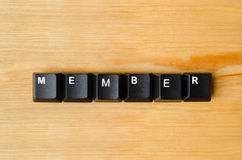 Member word. With keyboard buttons Stock Images